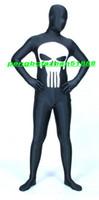 ingrosso abito bianco catsuit vestito-Nero / Bianco Lycra Spandex Skull Suit Catsuit Costumi Unisex Fantasy Super Hero Suit Outfit Halloween Party Fancy Dress Cosplay Suit P279