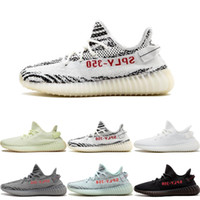 Wholesale cycling online - With Box SPLY V2 Static Butter F36980 Blue Tint Beluga Zebra Cream White Running Shoes Mens Womens Designer Sneakers