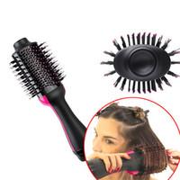 saç kurutma makinesi toptan satış-Bir Adım Saç Kurutma Makinesi, Salon Sıcak Hava Şekillendirici Fırça Negatif Iyon Jeneratörü Saç Düzleştirici Bigudi Tüm Saç tipi için