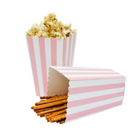 ingrosso festa di compleanno trattare i sacchetti-1200pcs Cinema Treat Favore di partito Mini Scatole di popcorn Borse Happy Birthday Party Foil fornitura Oro argento caramelle regalo scatole di popcorn 20180920 #