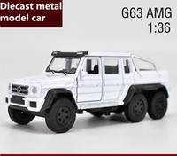 Wholesale Toy Cars Brands - Brand New free shipping 1:36 scale alloy pull back car,high simulation G63 AMG model diecast metal model toy,2 open doors