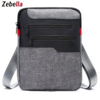 evrak çantası satışı toptan satış-Rahat Erkek Messenger Omuz Çantası iPad Satchel Naylon Seyahat Iş Evrak Için Göğüs Paketi Çanta Sacoche Homme Sıcak Satış Çanta