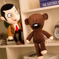 sr juguetes de frijol al por mayor-1pcs 30cm Cute Mr Bean y oso de peluche juguetes de peluche Mr Doll Mr.Bean Toys para niños muñecas de cumpleaños regalo Knuffels Dieren N047