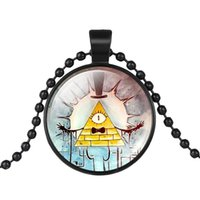 Wholesale Gravity Wheels - whole saleMaxi Choker Chain Necklace Drama Gravity Falls Mysteries BILL CIPHER WHEEL Glass Pendant Necklace Doctor Who Women Men Jewelry