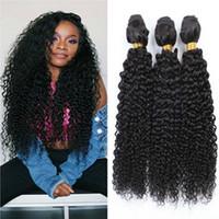 işlenmemiş bakire saç hızlı nakliye toptan satış-100% Brezilyalı işlenmemiş Virgin İnsan Saç 1b # Doğal Renk Kinky Kıvırcık Paketler Fırsatları ile Hızlı Kargo Fabrika Outlet 9A