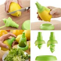 mini limon sıkacağı toptan satış-3 adet / takım Limon Suyu Püskürtme Meyve Portakal Narenciye Sprey Mini Sıkacağı El Sıkacağı Pişirme Aracı Malzemeleri Mutfak Alet AAA545