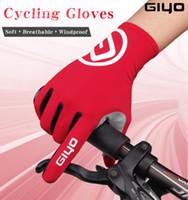 Wholesale Long Gloves Men - GIYO Touch Screen Long Full Fingers Gel Sports Cycling Gloves Women Men Bicycle Gloves MTB Road Bike Riding Racing Gloves
