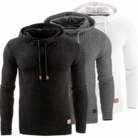 спортивный костюм с капюшоном с капюшоном оптовых-Hoodies Men  Male Long Sleeve Solid Color Hooded Sweatshirt 2017 Mens Hoodie Tracksuit Sweat Coat Casual Sportswear S-4XL