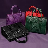 Wholesale private leather for sale - Group buy High end crocodile leather handbags luxury crocodile skull Emperor private custom leisure women s handbags latest