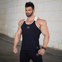 tanque negro para hombres al por mayor-Body Engineers Belegend New Fitness Hombres Tank Top Hombres Bodybuilding Stringers Black Tank Tops Singlet Brand Clothing