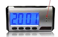 detectores de movimiento a distancia al por mayor-Reloj de la cámara HD Reloj de alarma digital más nuevo Detector de movimiento Grabadora de sonido Video digital PC con Contro remoto