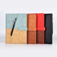 Wholesale Leather A5 Notebook - Elfinbook X Erasable Notebook Leather Reusable Smart Wirebound Electronic Notebook Cloud Storage Flash Storage A5 Paper DHL