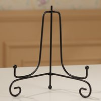 Wholesale Food Support - Triangle Metal Iron Support Resuable Plate Display Holders Black Household Resistance To Fall Bracket Top Quality 10as7 X
