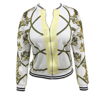 Wholesale white casual jackets online - Autumn New Style Digital Positioning Printing Jacket Women s Fashion Thin Section Self Cultivation Type Jacket