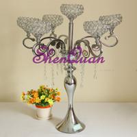 hohe kristallleuchter großhandel-Crystal Globe Votive Tealight Tall Kerzenhalter Candlestick Bowl Stand Hochzeitsmittelstück, Black Tall Wedding Dekorative Kandelaber