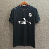 Wholesale ship jersey real madrid for sale - Group buy Real Madrid away Kids kit soccer jersey RONALDO BENZEMA ISCO BALE SERGIO RAMOS MORATA ASENSIO Football shirt