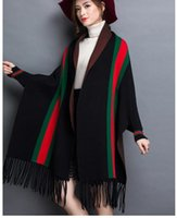 Wholesale polyester shawls resale online - 1pcs autumn winter scarf woman cape travel shawls wool spinning ladies National intensification cloak colors cape christmas party cappa