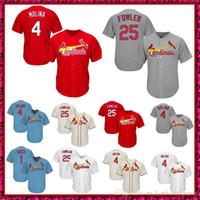 b96a6b95ff5 25 Dexter Fowler 4 Yadier Molina 1 Ozzie Smith Jersey Uomo St. Louis  Baseball Jerseys Spedizione gratuita
