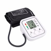kan dijital toptan satış-Otomatik Dijital Üst Kol Kan Basıncı Monitörü Kalp Yendi Hızı Darbe Metre Tonometre Sfigmomanometreler pulsometer