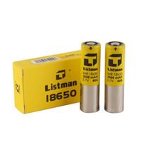 mod bataryaları yüksek drenaj toptan satış-100% Orijinal Listeci IMR 18650 3000 mAh 40A için 3.7 V Yüksek Drenaj Şarj Edilebilir Pil 510 konu Kutusu Mod