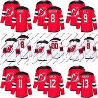 Wholesale Cheap Custom Hockey Jersey - 2017-2018 Season New Jersey Devils Jersey 9 Taylor Hall 11 Brian Boyle 12 Ben Lovejoy Mens Womens Youth Custom Hockey Jerseys Cheap