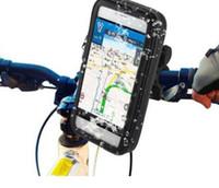 водонепроницаемый держатель телефона для велосипеда оптовых-Мотоцикл велосипед Держатель телефона база мобильный телефон сумка поддержка iPhone 7 6 S Galaxy S8 плюс GPS велосипед держатель водонепроницаемый велосипед чехол сумка