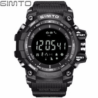relojes baratos al por mayor al por mayor-X GIMTO Cool Black Sport Reloj inteligente Digital Militar Silicona Impermeable LED Shock Relojes electrónicos Podómetro Smartwatch