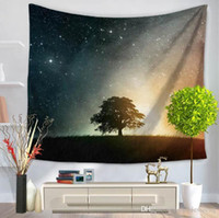 Wholesale sky bedding for sale - Multifunction starry sky tapestry style printing beach towel tablecloth bed sheet for party home decoration party supplise free ship