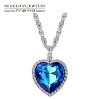 Wholesale long agate pendant for sale - Group buy Neoglory Austria Crystal Zircon Long Charm Pendant Necklace Romantic Love Heart Design Trendy Exquisite Classic Sale
