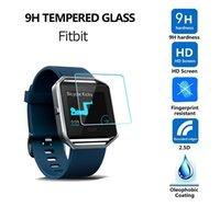ingrosso vetro per samsung s3-Vetro temperato per Samsung Smart Guarda 42 millimetri attivo 46 millimetri Gear Sport Classic S2 S3 S4 Per Fitbit Versa Blaze Surge della protezione dello schermo