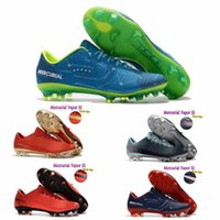 Wholesale Pink Ankle Boots Fur - 2018 Mens Low Ankle Football Boots CR7 Mercurial Vapor XI FG indoor Soccer Shoes Superfly V Soccer Cleats boots