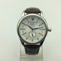 ginebra relojes florales al por mayor-Alta calidad hombres de moda AAA pequeña marca de tres agujas reloj de cuero de cuarzo casual simple analógico relojes masculinos venta caliente regalo hombres vestido de reloj