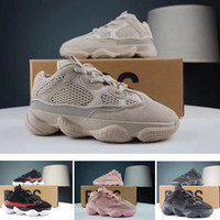 Wholesale shoes children online - Blush Desert Rat Infant Runners kids Running shoes Utility Black Baby boy girl Toddler Youth trainers Designer Children sneakers