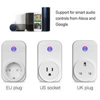 Wholesale remote uk plug online - Alexa SWA1 A Home Automation Wireless Smart WiFi Socket Support Smartphone Remote Control Timing Switch EU US UK Plug