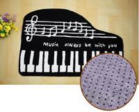 Wholesale musical carpet mat resale online - Brand New Embroidered Porch Doormat Floor Carpet Bedroom Rugs Musical Notes Mat Carpet Hand Hooked Living Door Mats Gifts