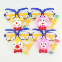 Wholesale clown cartoon - Cartoon Monkey Spectacles Blowing Dragon Kid Halloween Toy Creative Clown Glasses Multi Color 1 05ys C R