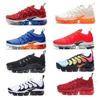 3411193eede2 TN Plus Men Designer Trainers Running Shoes Silver Triple Black White Cool  Grey Hyper Violet Grape Men Sports Sneakers Size 7-11