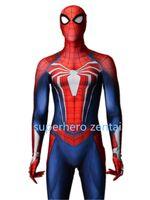 ingrosso catsuit uomo di ragno-Più nuovo Insomniac Spider-man Costume PS4 Gioco Spiderman Cosplay Zentai bodySuit Spandex Halloweem Spandex Catsuit adulto / bambini / costume