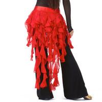 troddel hüftgürtel groihandel-Günstige Dancewear Belly Dancing Kleidung Chiffon Rock für Praxis Verstellbarer Schnitt Gewickelter Gürtel Frauen Bauchtanz Hüfttuch