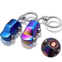 Wholesale cigarette smoke detectors resale online - Car Key Chain Cigarette Lighter Smoke Detector Car Electronic Intelligent Control USB Charging Car decoration