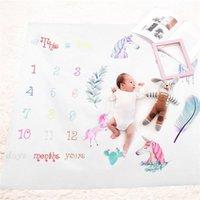 teppich mädchen großhandel-Fotografie Prop Decke Neugeborenen Kinder Foto Teppich Growth Record Print Playmats Für Mädchen Jungen Mode Laufleistung Teppiche 19fdb ff