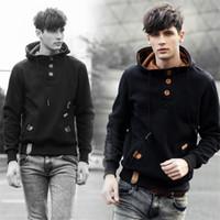 hoodies preppy achat en gros de-2018 New Fashion Trend Mens Hoodies Hommes Pull à capuche Euramerican Preppy Chic Hommes HoodiesSweatshirt cinq couleurs taille M-3XL