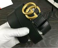 Wholesale leather circle belt - 2018 Big large buckle genuine leather belt with designer belts men women high quality new mens belts luxury brand belt free shipping
