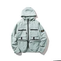 çoklu cep giyim toptan satış-Çok cep moda hip-hop hip-hop hoodie serin erkekler ve kadınlar casual düz renk ceket gençlik ceket erkek giyim