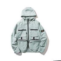 chaquetas frescas de los hombres al por mayor-Sudadera con capucha de hip-hop hip-hop de moda hip-hop para hombres y mujeres casual chaqueta de color sólido chaqueta para jóvenes