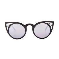 Wholesale Round Cateye Sunglasses - BAMONA Fashion Cat Eye Sunglasses Women Brand Designer Sun Glasses For Ladies Vintage Oculos cateye Mirror Colorful-Lens Female