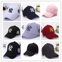 Wholesale Ny Snapbacks - 2018 Fashion NY Baseball Caps 9 Colors Peaked Cap New Adjustable Snapbacks Sport Hats Free Drop Shipping Mix Order