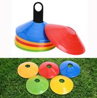 ingrosso discoteche-Soft Disc Calcio Training Sign Dish Coni resistenti alla pressione Marker Dischi Marker Secchio PE Sport Accessori 5 * 20CM Sport Toys