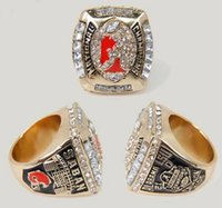 Wholesale alabama rings - New Fine 2011 Alabama Crimson Tide National Championship Ring solid as men best gifts high quality rings