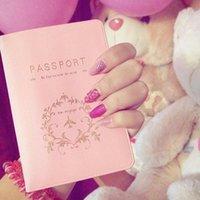 визитные карточки pvc оптовых-2018 новая мода пары обложка для паспорта путешествия бизнес владельца паспорта ПВХ карты /ID держатели паспорта пакет RD874959